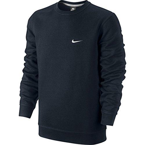 Nike Mens Crew-Neck Sweatshirt Dark Obsidian/White 611467-473 Size Small