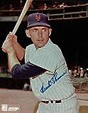 Frank Thomas Signed Photo - 8X10 New York Giants Pose w Bat COA - Autographed MLB Photos