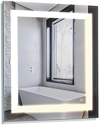 Tosca 100087 White 24x30 Inch Led Bathroom Mirror Anti Fog Wall Horizontal Or Vertical Mount Color Changing Soft Daylight Buy Online At Best Price In Uae Amazon Ae