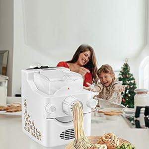 TTLIFE Macchina per pasta elettrica Macchina per pasta e ramen Prepara 1 libbra di spaghetti fatti in casa