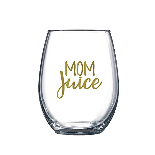 Sassy Mom Wine Glasses 15 Oz Stemless Wine Glasses Mom Juice Wine