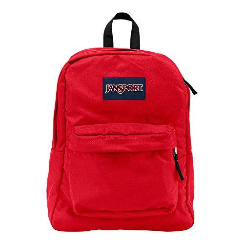 JanSport Superbreak Backpack - Lightweight School Pack, Red Tape (Jansport Viking Red Backpack)