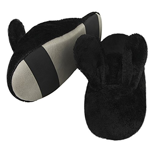 Slippers Black Gift Memory Rabbit Bunny Shoes Foam Bedroom Slip Womens Indoor Winter House Cute Xmas Anti Plush Soft aTIHRq