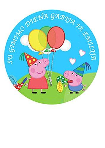 Peppa Pig y George personalizada decoración para tarta para ...