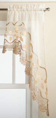 Lorraine Home Fashions Seville Swag Pair, Ecru