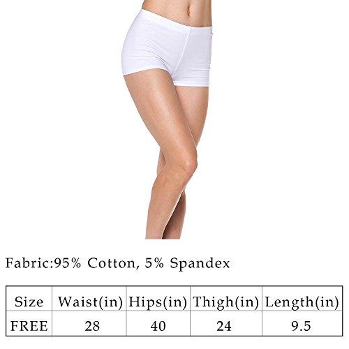 RIKKI Women's Shiny Mermaid Fish Scale Hot Pants Mini Shorts (Medium, RI10091 White) (White Hot Pants)