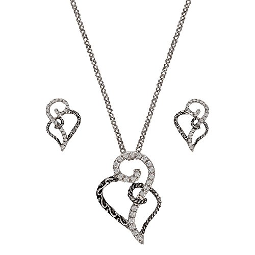 Montana Silversmiths Woven Hearts Jewelry Set (JS2234) (Montana Silversmiths Jewelry Set)