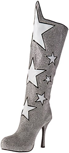 Ellie Shoes Women's 420-Hero Boot, Silver, 10 M US (Wonder Woman Boots)