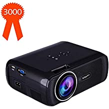 """TOPRUI 2018 Mini LED Movie Video Projector, +30% Brighter Lumens Full HD Portable Projector 1080P with 170"""" Big Display for Outdoor/ Home Theater HDMI,TV,SD Card,AV,VGA,USB, iPhone Android Laptop"""