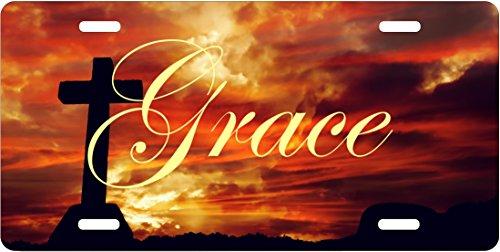 License Plate Grace Religious Jesus Christ Car Accessories (Religious Accessories)