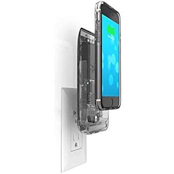 Prong iPhone 6s Battery Case with Plugs, Prong Extended Battery Case for iPhone 6 / 6s (Removable Backup Battery) with 2600 mAh Capacity / 100% Extra Battery Pack Juice Bank Cover [Apple MFi Certified] - Translucent