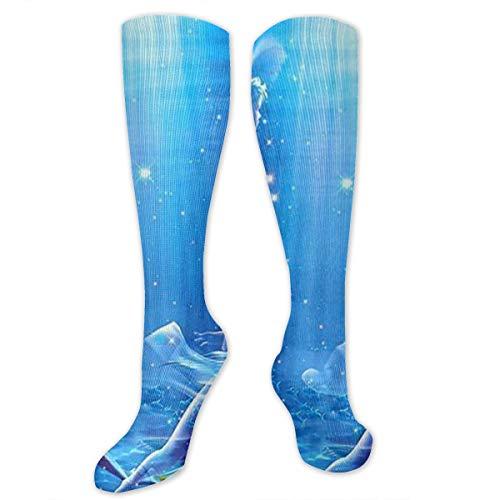 (Fechahao Pisces Compression Socks for Women and Men - Best Nursing, Running, Athletic, Diabetic, Travel, Pregnancy)