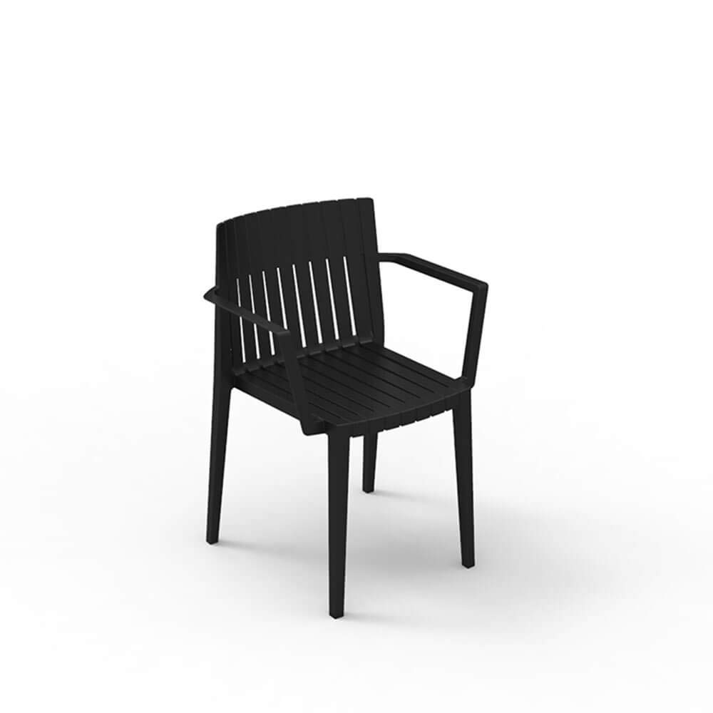 Amazon.com : Set 2 Vondom Spritz Armchair for Outdoor Black ...