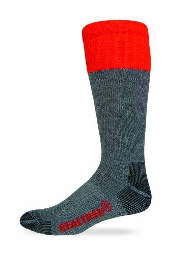 Realtree AP Mens Full Cushion Ultra-Dri Tall Boot Socks (2-Pair), Grey, Large