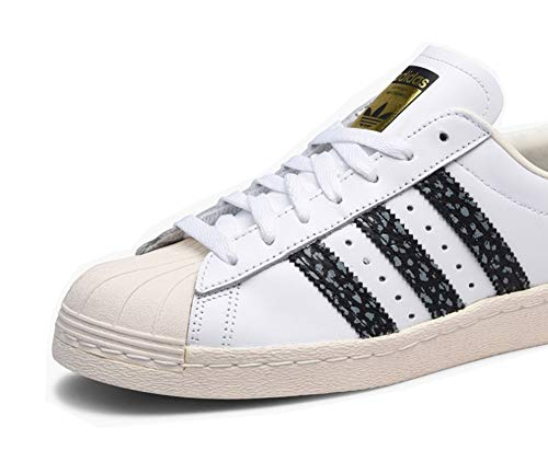 Superstar 80s adidas Blanc Basket 48 Originals Mode Homme 855nqwTE
