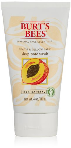 Burt's Bees Peach and Willowbark Deep Pore Scrub, 4 Ounces (Pack of 2)