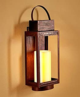 remote control led wall sconce bronze - Battery Operated Sconces
