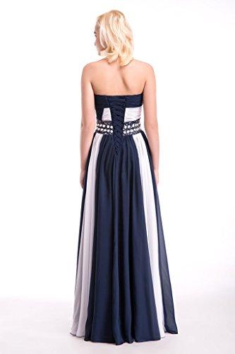 Vimans -  Vestito  - linea ad a - Donna Blue and White 46