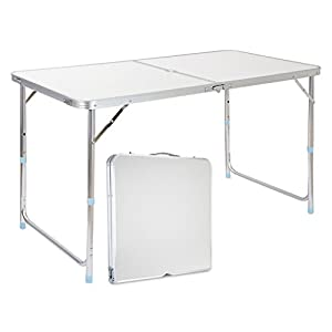 Finether Height Adjustable Aluminum Camping Portable Folding Table Multi  Purpose For Indoor Outdoor