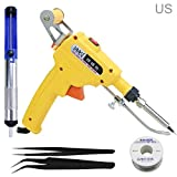 Purefire Soldering Iron Gun Kit,60W Professional Welding Tool,with Desoldering Pump,Tweezers,for Circuit Board Repair