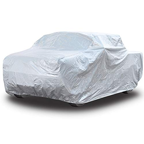 (Kayme Four Layers Truck Cover Waterproof All Weather with Cotton Sun Uv Rain Protection for Automobiles Outdoor, Truck Pickup Fit Up to 242