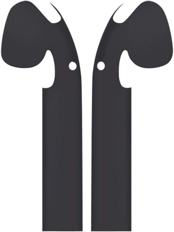 Auriculares bluetooth,CHshe ❤Fundas protectoras Las fundas con estilo minimalistas cubren la personalización,las pieles para Apple AirPods |Negro|