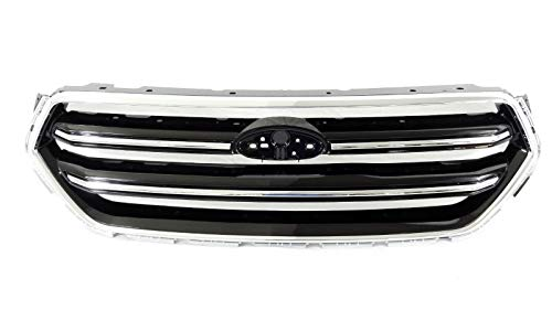 Front Bumper Grille fits Ford Escape 2017 2018 | ABS Chrome Black Factory Style | by JX Accessories