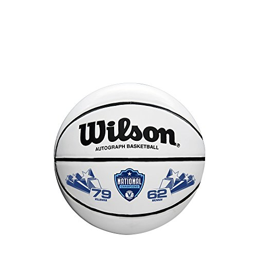 - Wilson Sporting Goods WTB0503IDCHP18A NCAA National Championship basketballs, Brown/White, Mini