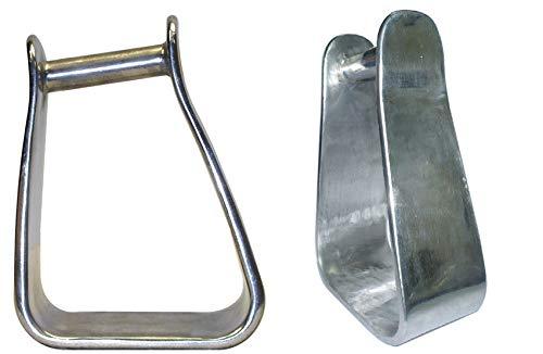 AJ Tack Wholesale Angled Slanted Sloped Tapered Aluminum Horse Saddle Stirrups 3