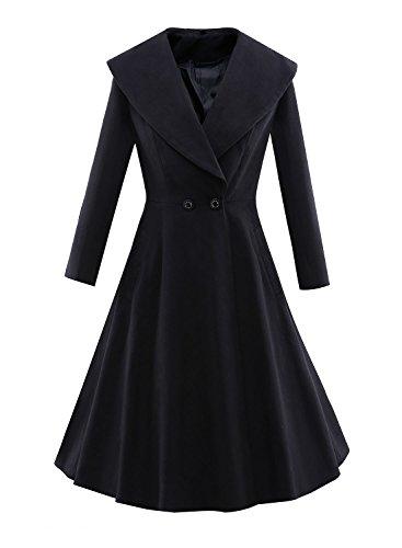 Ezcosplay-Womens-Long-Sleeve-Lapel-Collar-Vintage-Rockabilly-Party-Swing-Dress