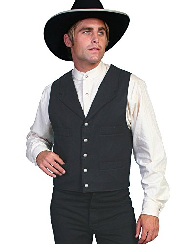 Wahmaker By Scully Men's Wahmaker Wool Vest Black X-Large (Old West Outfit)