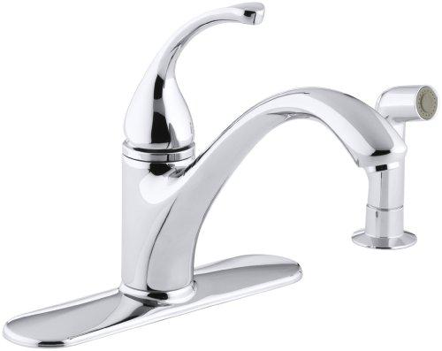 KOHLER 10412-CP Forté(R) 4-Hole Sink 9-1/16