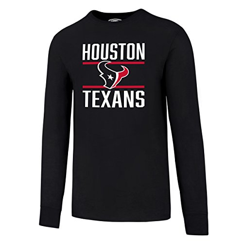 NFL Houston Texans Men's OTS Rival Long Sleeve Tee, Fall Navy, XX-Large Texans Football T-shirt
