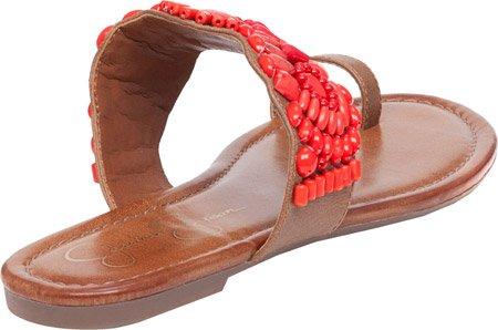 Flat Simpson Loop Toe Beaded Brown Womens Jessica Sandals Razzel Truffle Rvwxx
