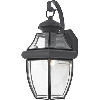 quoizel ny8316k newbury light outdoor wall lantern mystic black
