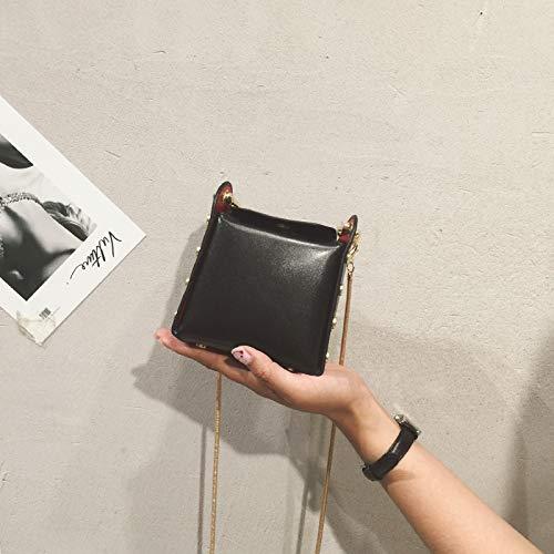 coréenne Été Sac Mini Petit Messenger Trompette épaule chaîne WSLMHH Super Fille Femme Sac la noire Sauvage de marée Version feu dxY4wwcEpq