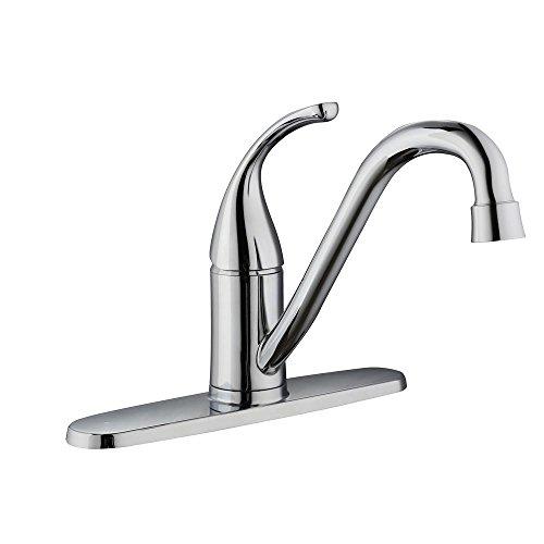 - Glacier Bay Builders Single-Handle Standard Kitchen Faucet in Chrome