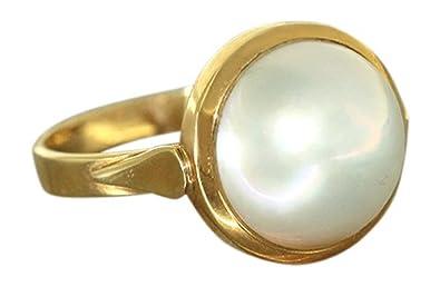 Hobra Gold Klassischer Ring Gold 750 Mit Mabe Perle Goldring
