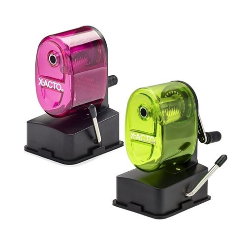X-ACTO Bulldog Vacuum Mount Manual Pencil Sharpener, Assorted Colors (2 Pack) by X-Acto