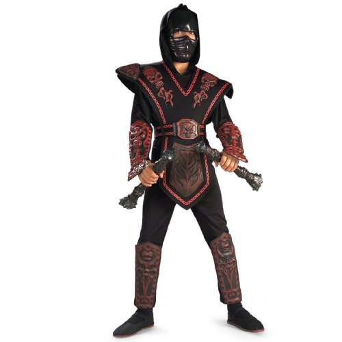 Red Skull Ninja Deluxe Child Costume, -