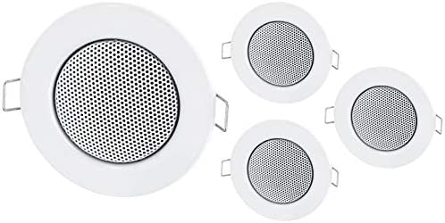 4 Pack – Empotrable Mini Altavoz Altavoz de techo de metal ...