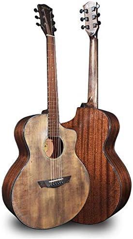 アコースティックギター コーヒーアコースティックギターローズウッド指板41インチ 初心者 (Color : Coffee, Size : 41 inches)