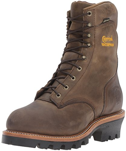 "Chippewa Men's 9"" Waterproof Insulated Steel-Toe EH Logger Boot,BayApache,7.5 E US"