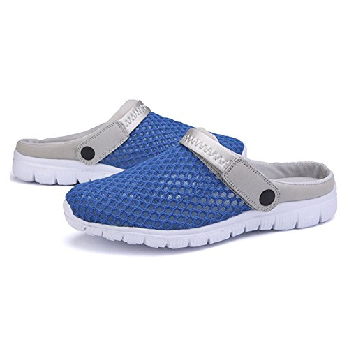 Hibote Summer Shoes Breathable Mesh Hole Shoes Sandals Couples Outdoor Casual Shoes Sandals and Nest Hollow Slippers Blue mlrk4Y9oe