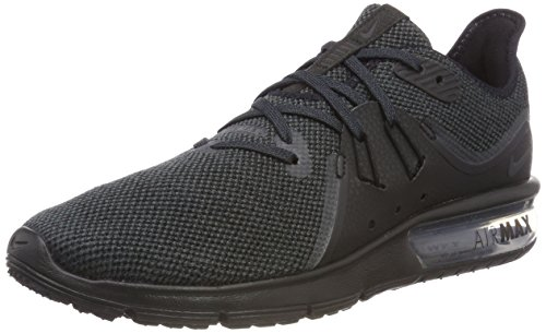 Nike Men's Air Max Sequent 3 Running Shoe Black/Anthracite Size 10.5 M US (Shoes Nike Air Max Men 2018)
