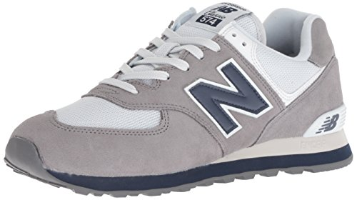 New Balance Men's 574S Sport Sneaker,Gunmetal/Navy,11.5 D US by New Balance