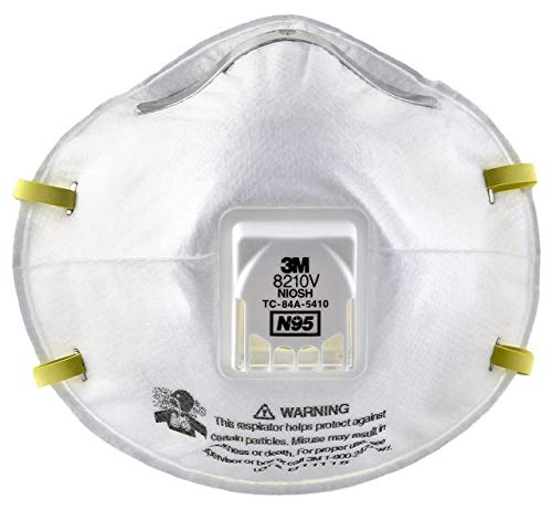 3M Particulate Respirator 8210V, N95 Respiratory Protection (10 Each Per Box) (Case of 80)