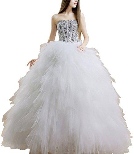Brautkleid Schwan HS1054 Hochzeitskleid Schleppe Feder Lactraum PgEqx5dP