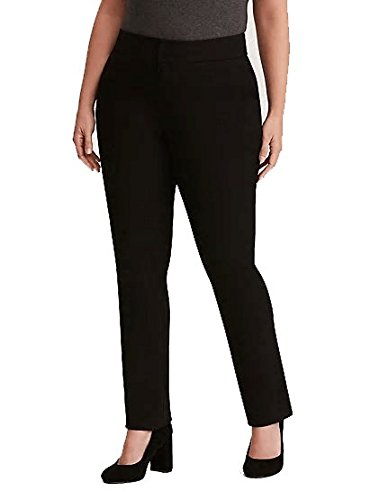 Chicwe Women's Plus Size Stretch Ponte Straight Leg Pants with Pockets - Casual and Work Pants Trousers 20 by Chicwe