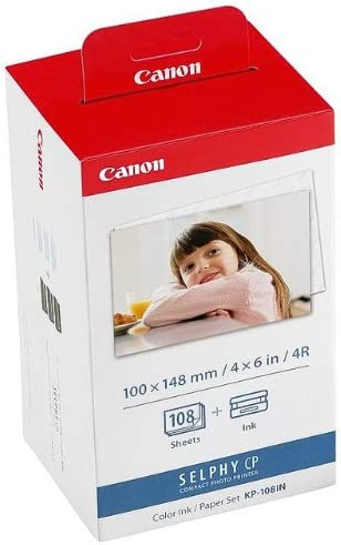 Canon Fotopapier für Canon Selphy CP 900. 108 Blatt A6 Photo. Color Ink Paper Set. 100x148 mm. CP900